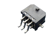 SMT M3045R Right Angle Dual Row Header Connector with Solder Tab