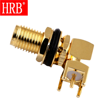 SMA female bulkhead right angle for PCB RF Connector