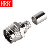 N Male Straight Crimp For LMR400 RF Connector